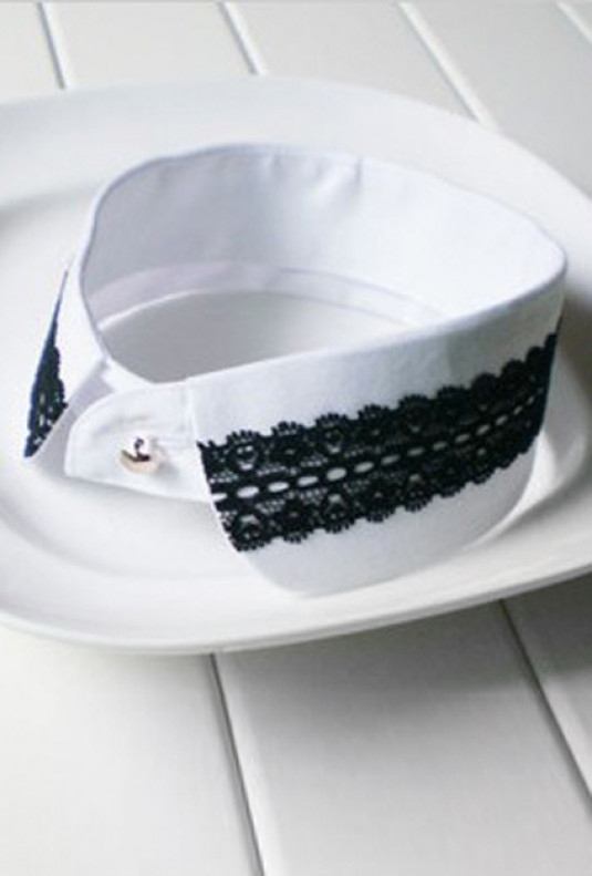 Collar - Timeless Addendum Lace Trim Vintage Statement Collar