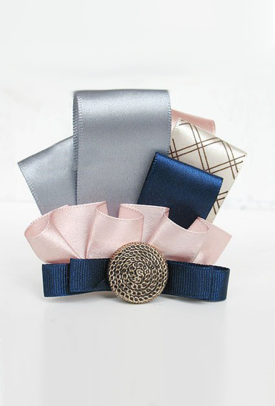 Brooch - Royal Ambassador Pleat Ribbon Brooch in Cecily