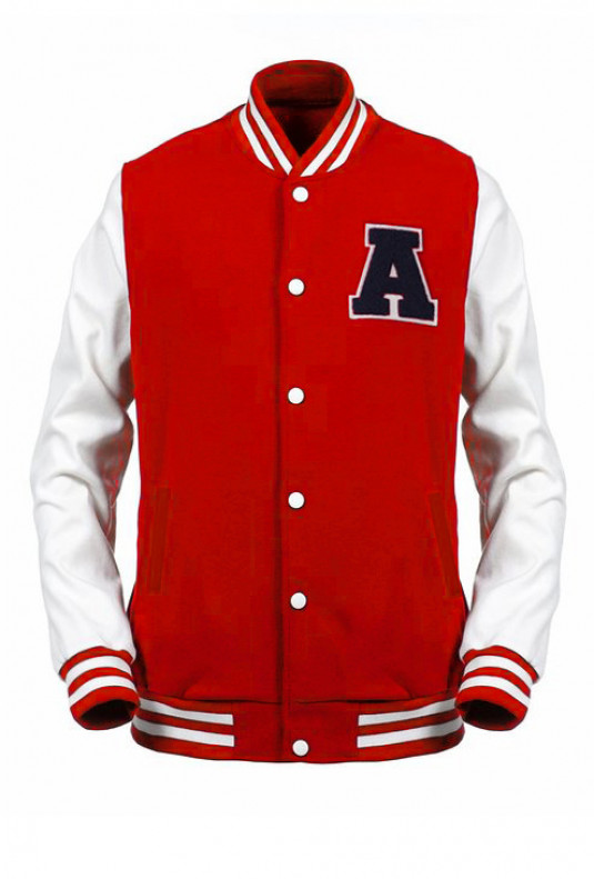 red letterman varsity jacket