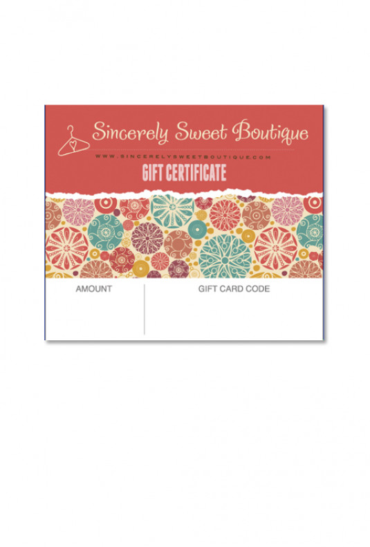 $75 E-Gift Certificate