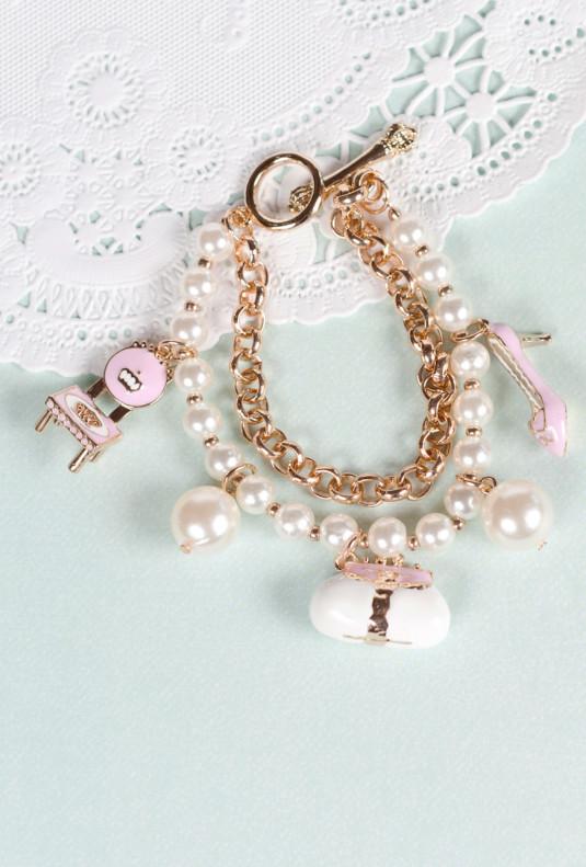 Bracelet - Isabelle's Vanity Pearl Charm Bracelet