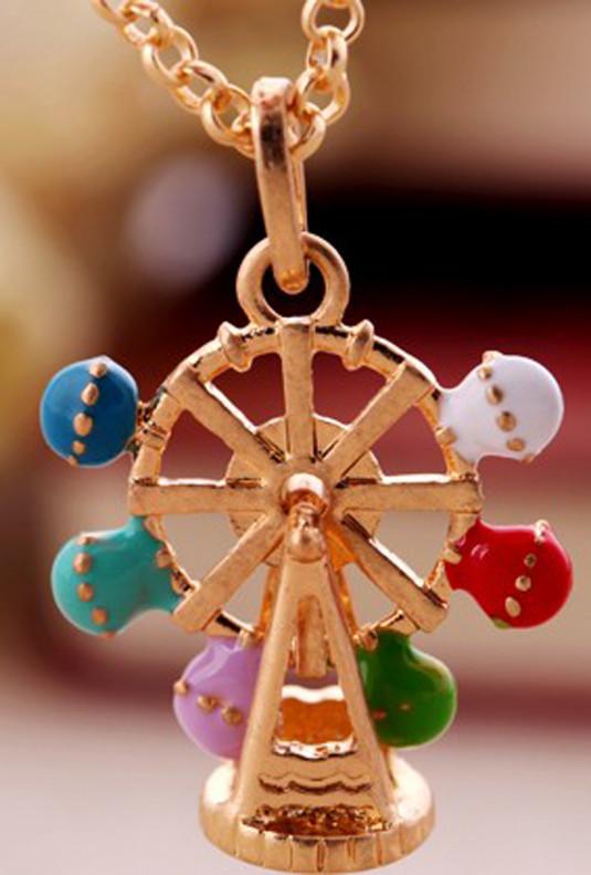 Necklace - La Grande Roue Ferris Wheel Pendant Necklace