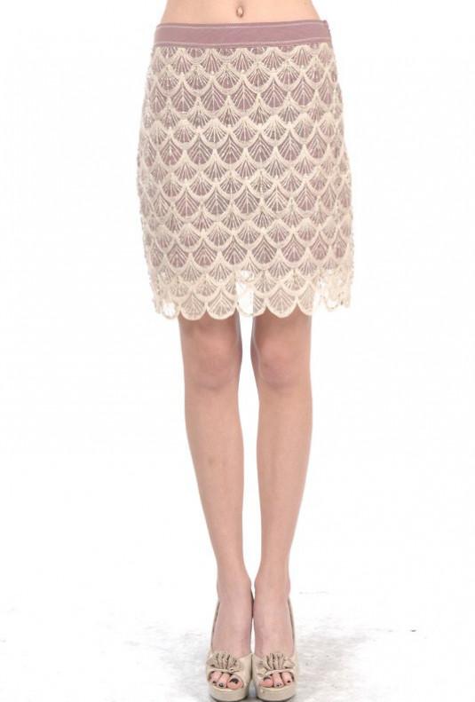 Mermaid Gala Seashell Crochet Overlay Skirt