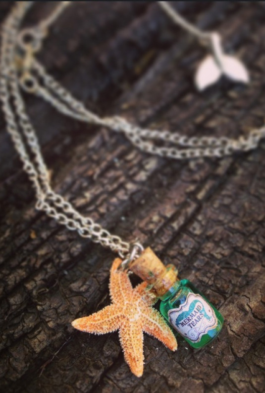 Necklace - Sea Enchantment Mermaid Tears Bottle Charm Necklace