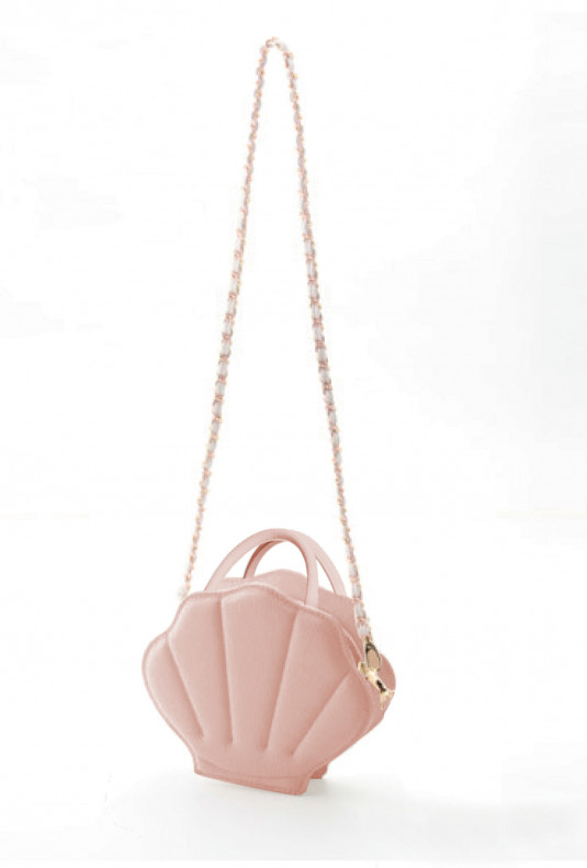 pink mermaid seashell purse