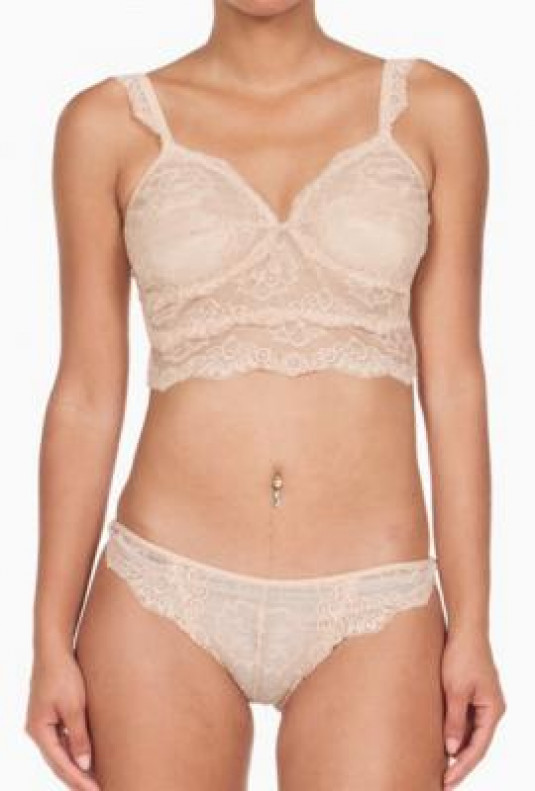 Bralette Panty Set - Mutual Attraction Nude Lace Bralette and Panty Set