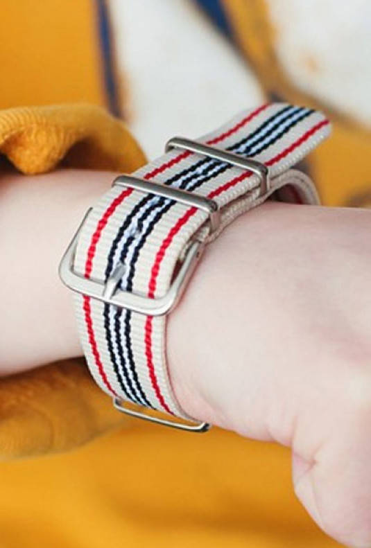 Nautical Stripe Buckle Strap Band Bracelet