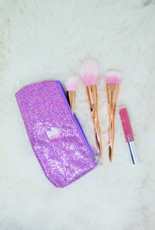 Unicorn Glitter Makeup/Pencil Bag