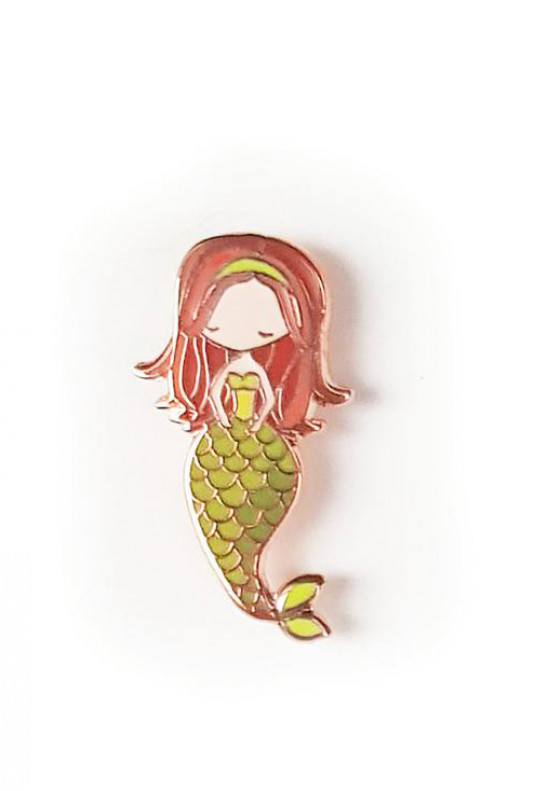 Zodiac Mermaid Enamel Pin - Virgo