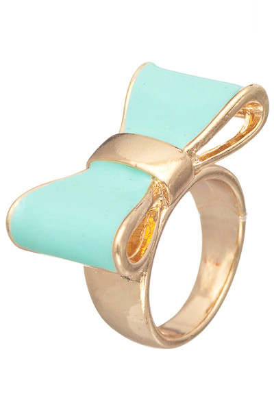 rings cute daily lacquered bow ring in mint sincerely