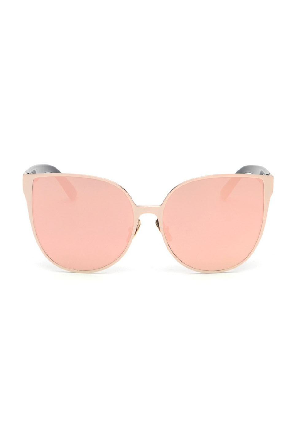 246d0ef187 Sunglasses - Cat Eyes Mirrored Oversized Sunglasses in Rose Gold ...