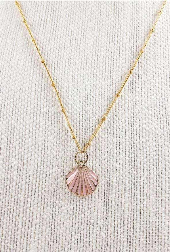 Necklace mermaid charm seashell pendant necklace sincerely sweet mermaid charm seashell pendant necklace aloadofball Images