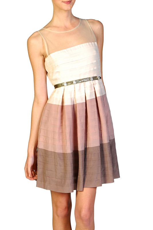 ombre mesh party dress