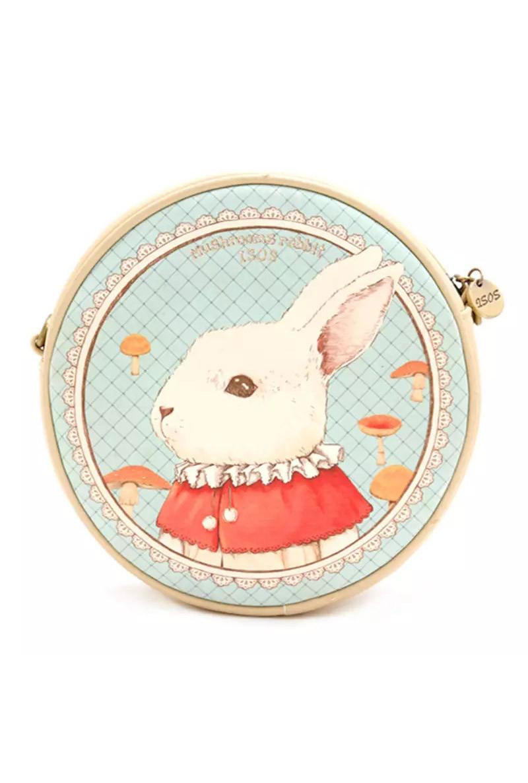 Alice In Wonderland White Rabbit Round Crossbody Bag