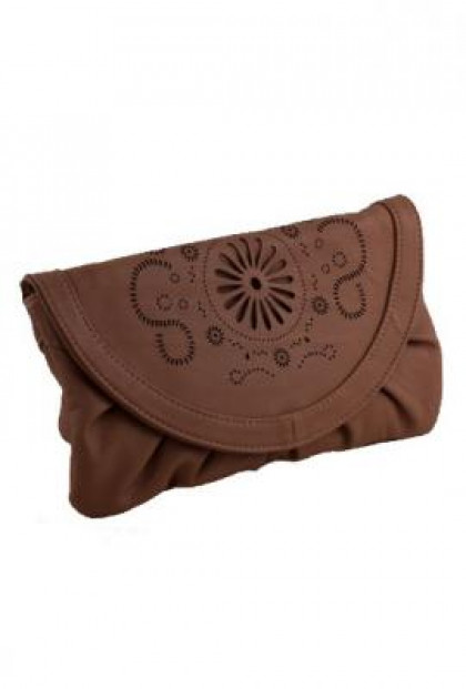 Tuscany Sunrise Multi-Wear Purse Brown Clutch
