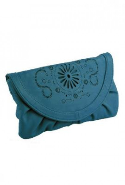 Purse Teal Clutch