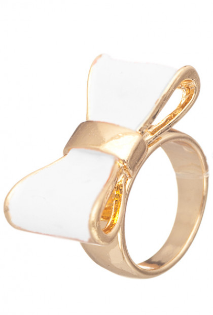 Rings - Cute Daily Lacquered Bow Ring