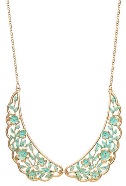 Necklace - Shabby Love Floral Filigree Vintage Collar Necklace