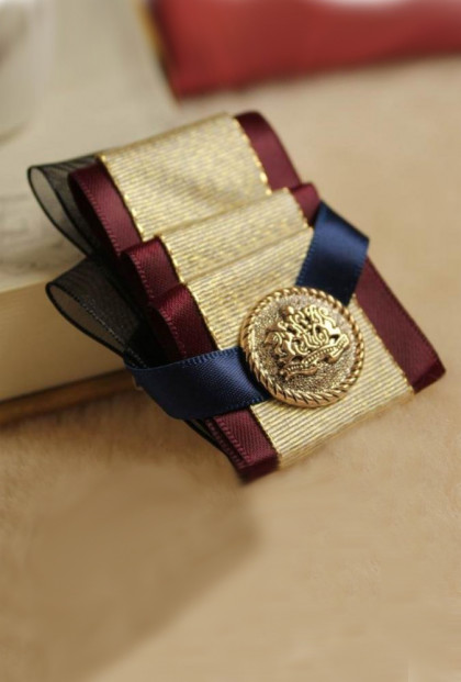 Brooch - Royal Ambassador Pleat Ribbon Brooch in Emma