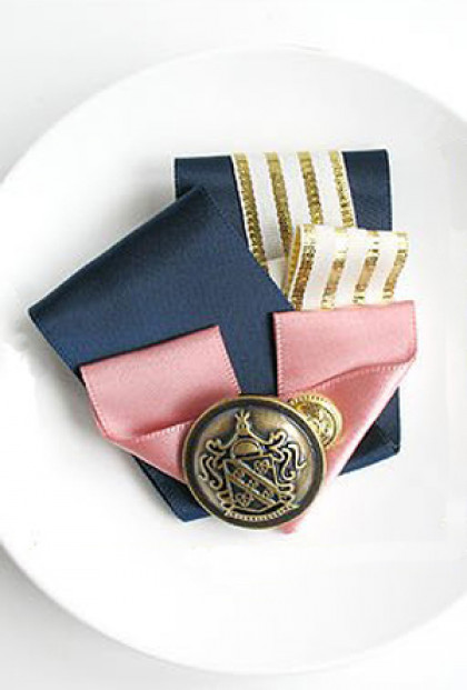 Brooch - Royal Ambassador Pleat Ribbon Brooch in Amelia