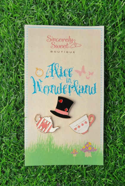 Mad Hatter Tea Party Pin Set