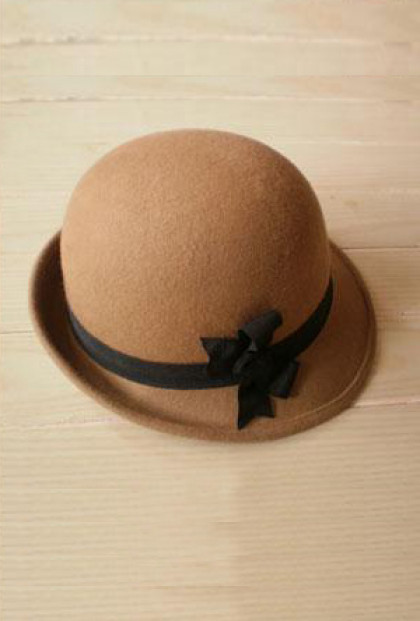 Cloche - Autumn Walks Bow Felt Cloche in Coffee