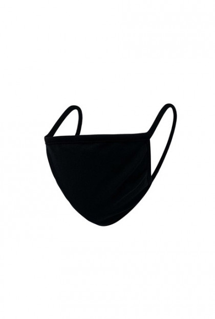 Fabric Reusable Face Mask in Black