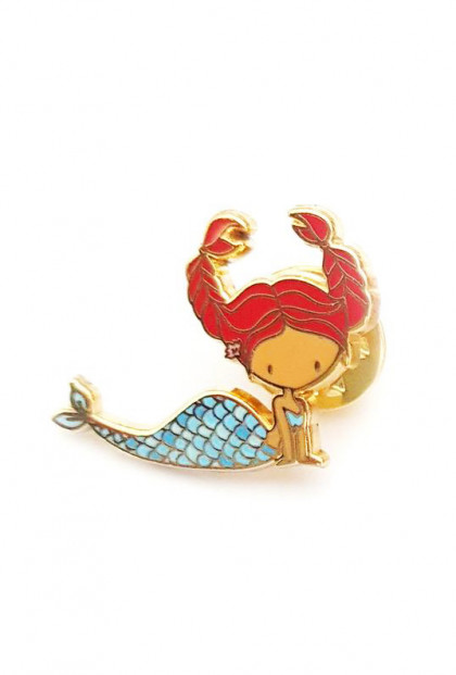 Zodiac Mermaid Enamel Pin - Cancer