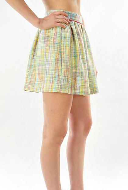 Color Theory Multicolor Skater Skirt