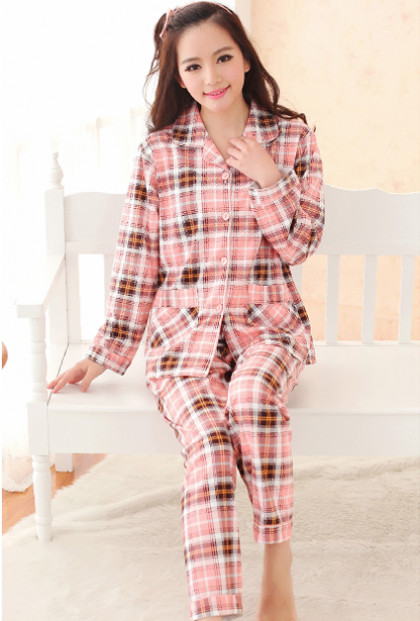 Pink Vintage Flannel Pajama Set