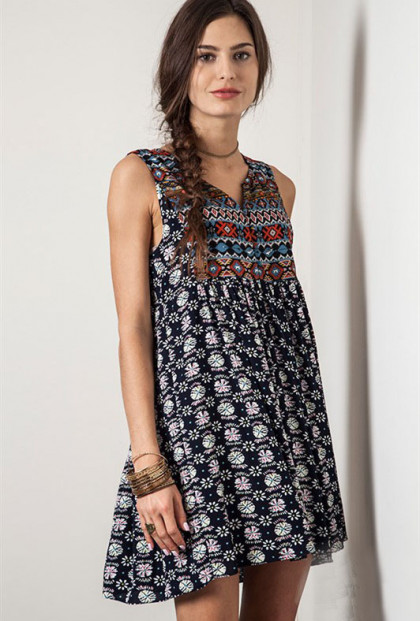 Dessert Valley Festival Boho Babydoll Dress