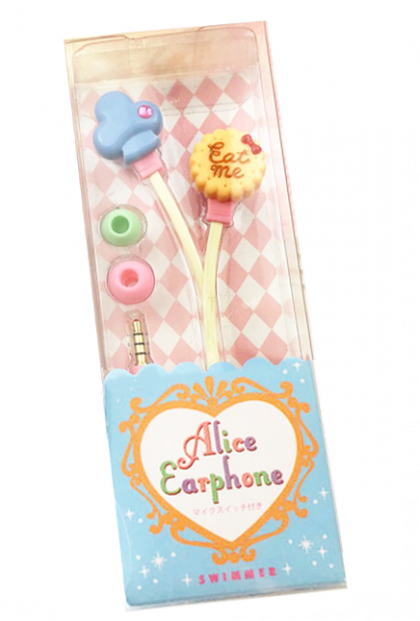 Alice in Wonderland Eat Me Cookie Earphones