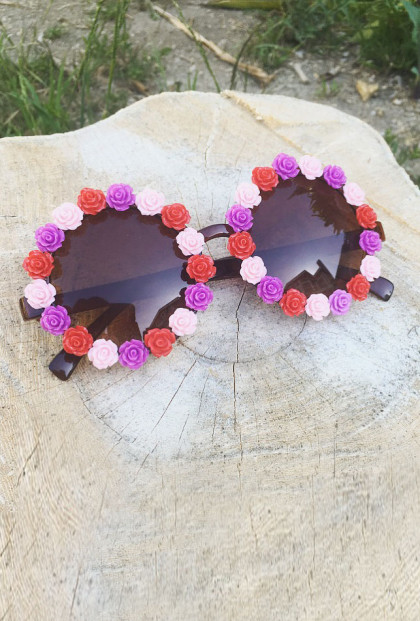 Flower Rose Rim Sunglasses