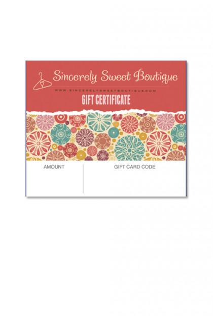 $100 E-Gift Certificate