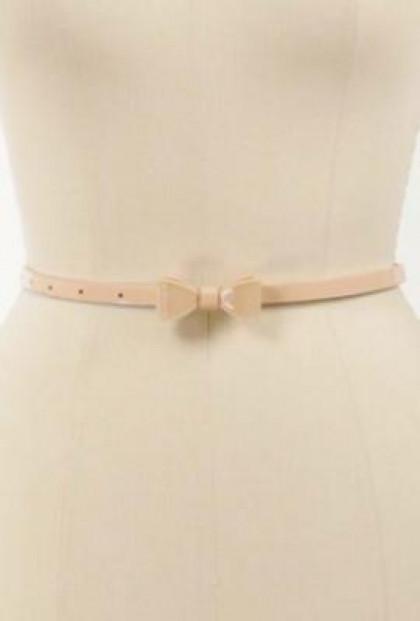Pink Bow Skinny Belt