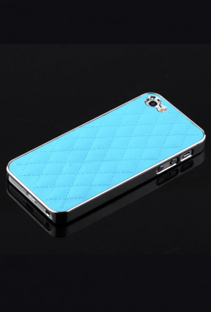 iPhone Case - Madame Matelasse Quilted iPhone 5 case in Heavenly Blue