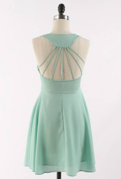 Mint Multi Strap Back Skater Dress
