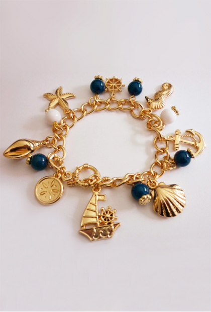 Life at Sea Nautical Charm Bracelet