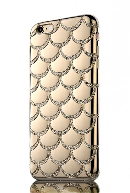 Mermaid Scale iPhone 6 Case in Gold