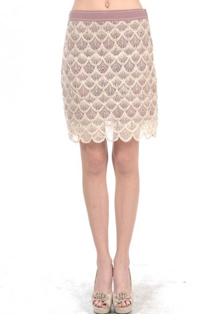 Mermaid Gala Seashell Crochet Overlay Skirt