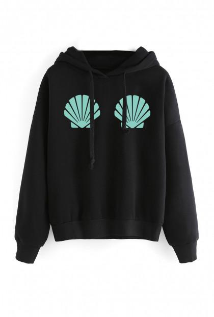 black mermaid hoodie