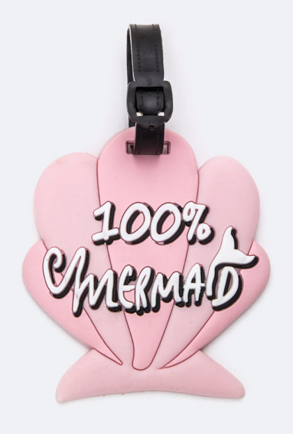 Luggage Tag - 100% Mermaid Seashell Luggage Tag