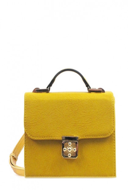 Purse - Audacious Statement Crossbody Accent Purse in Mustard