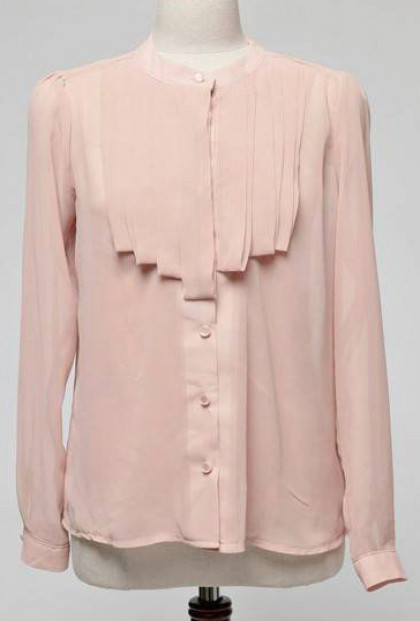 My Beloved Pleated Jabot Blouse