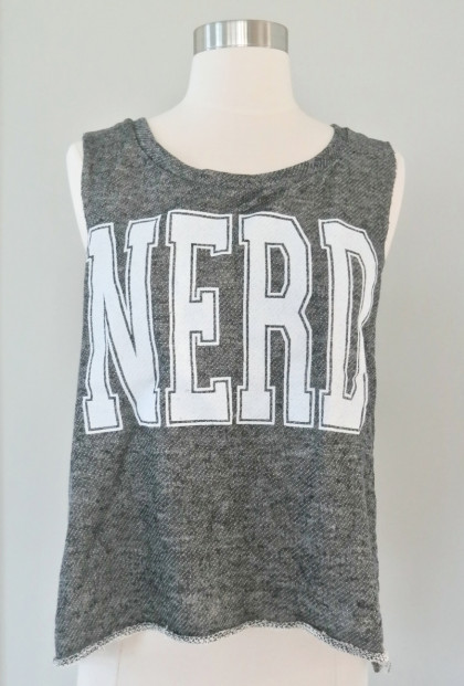 Tank Top - Nerd Life Oversized Tank in Gray