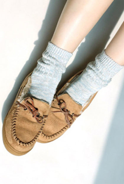 Ordinary-People-Heathered-Knitted-Socks-gray