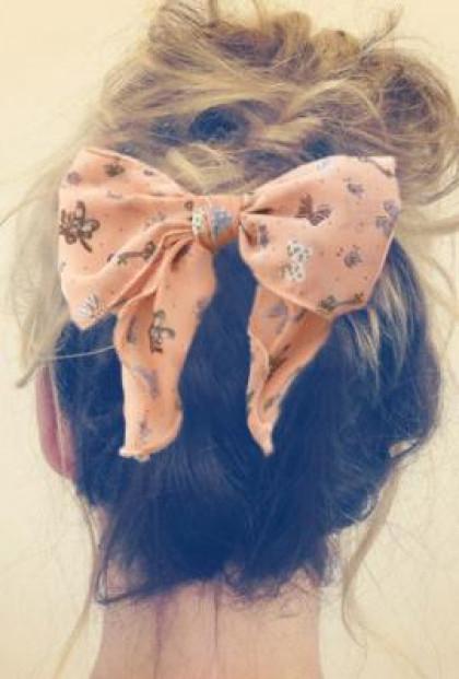 Hair Clip - model Vintage Print Bow Hair Clip