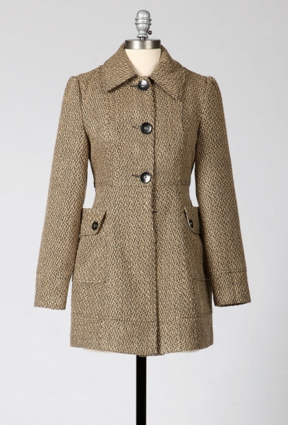Oversize Pockets Coat in Khaki