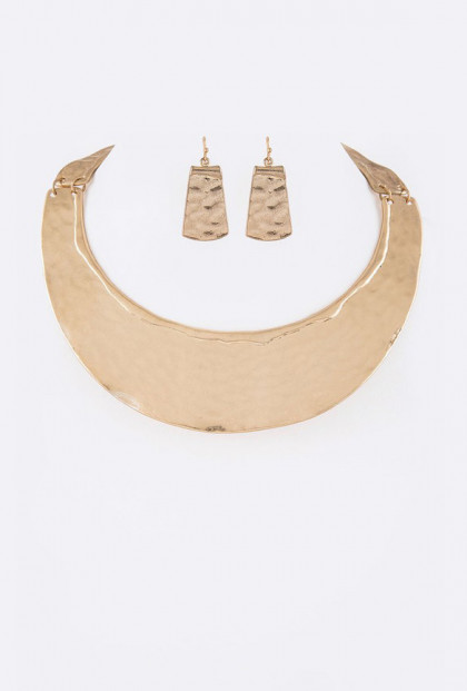 Palace Jewel Statement Collar Necklace Earring Set