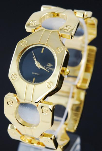 Bracelet Watch - Perfectly Posh Circle Link Bolt Watch Bracelet in Gold